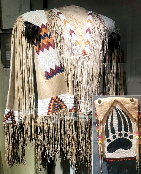Native American beadwork on buckskin