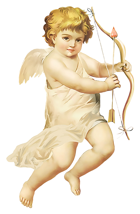 Victorian Cupid with Bow
