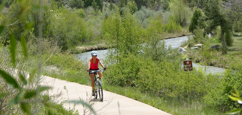 Biking Dennis Weaver Park, Ridgway CO