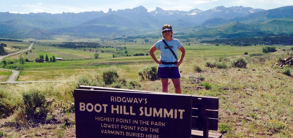 Hiking on Boot Hill Summit