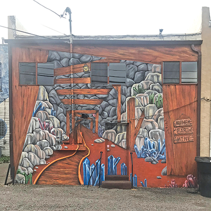 Mural behind Mother Earth, 321 Main St., Montrose CO