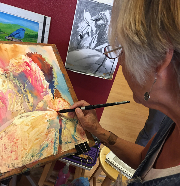 Cheri Isgreen in her studio